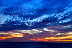 Watch The Sunset Down (Bill Adams) Tags: longexposure sunset hawaii explore waikoloa quartermoon abay anaehoomalubay 4seconds specnature abigfave