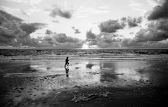 Sylt (Maharepa) Tags: street camera leica boy shadow bw white black classic film clouds 35mm germany geotagged island deutschland top20bw ch