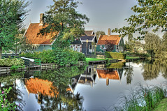 Dutch Homes (Stuck in Customs) Tags: homes holland reflection water netherlands dutch quaint hdr