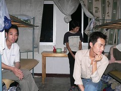 Zhang Zhang Sheng and Xu Xui Dong, dorm room, gold farm, Jinhua (Julian) Tags: china wow internet games worldofwarcraft jinhua