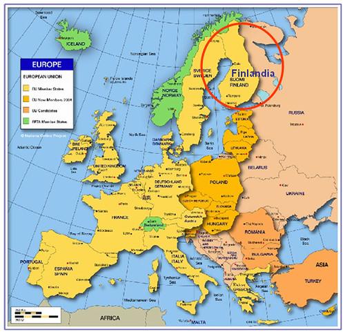 Mapa Finlandia ricardoroman.cl