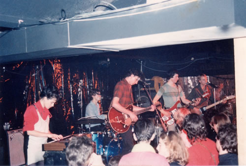 Sydney '82 - Byron on bass and Jill Yates on keyboards