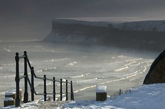 Winter's path to Huntcliff (~Glen B~) Tags: uk winter snow cleveland teesside saltburn huntcliff saltburnbythesea bbok cotcmostfavorites satelliteportfolio redbubble:id=2176762winterspath