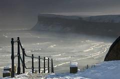 Winter's path to Huntcliff (~Glen B~) Tags: uk winter snow cleveland teesside saltburn huntcliff saltburnbythesea bbok cotcmostfavorites satelliteportfolio redbubble:id=2176762winterspath