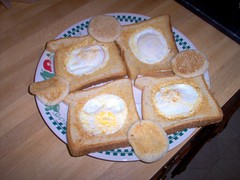Eggs In A Hole In Some Bread