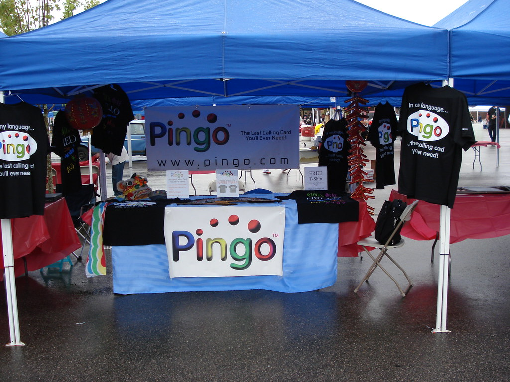 Pingo Boston China Prepaid Phone Card Sponsor Booth