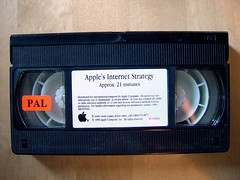 Apple's Internet Strategy (1996) (Sameli) Tags: net apple macintosh video mac internet 1996 entertainment tape apples pal tapes information tuaw videos strategy  vhs netpop