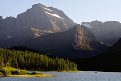 Mount Gould (Robby Edwards) Tags: sunset vacation mountain lake water nationalpark montana hike glacier trail glaciernationalpark payitforward swiftcurrentlake manyglacier specland swiftcurrentnaturetrail mountgould