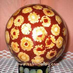 Laminated decorative ball (flower)