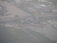 Levee repair, New Orleans, LA (Beauty Playin 'Eh) Tags: neworleansla hurricanekatrinaaftermath picturesfromtheair picturesfromanairplane