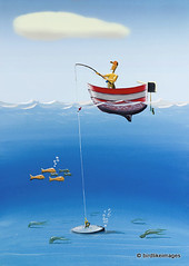 Pulling the plug (Greg Bajor) Tags: art illustration digital painting fishing humour plug gouache aplusphoto birdlikeimages gregbajor