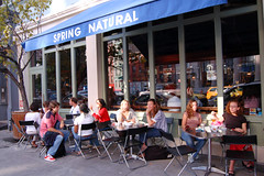 Outdoor Seating, Spring Street Natural Restaurant, Soho, New York City by Northcountry Boy, on Flickr