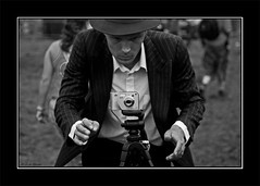 The photographer (Erik Meijers) Tags: camera new old blackandwhite bw music white black art topf25 dutch hat festival modern contrast photography bravo theater utrecht photographer picture nederland thenetherlands explore winner historical trophy duality interestingness9 magicdonkey ratemybw43 debeschaving obsessiveflickrites abigfave 30faves30comments300views views10001250 mygearandme