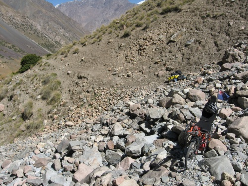 700m from the start of the Kerege-Tash Pass route, Kyrgyzstan