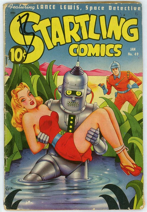 Bender de Futurama se parece a Startling Comics #49