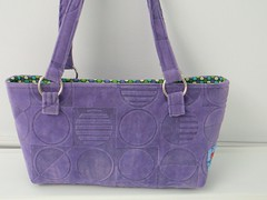 Purple Micro-suede handbag purse (xsbaggageandco) Tags: purple handmade lavender purse handbag microsuede