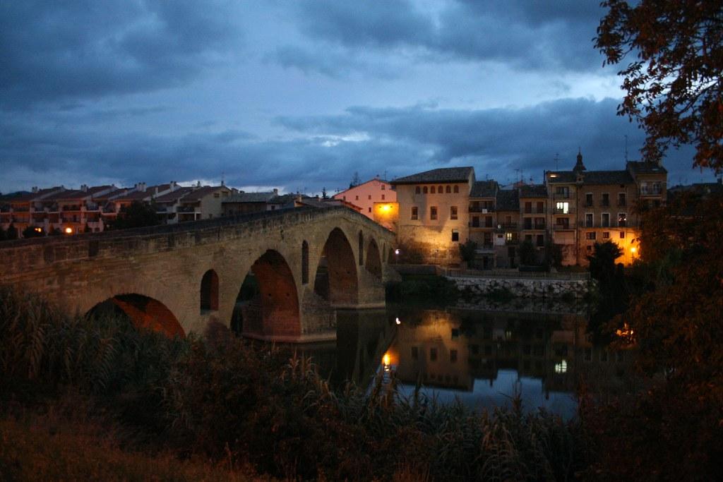 Photo de Navarre n°10. Coucher de soleil à Puente la Reina