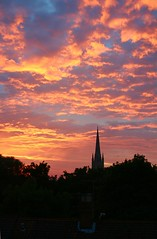 From my Bedroom Window - delighting shepherds (Colonel Blink) Tags: sunset sky cathedral norfolk norwich frommybedroomwindow norwichcathedral thorpehamlet colonelblink