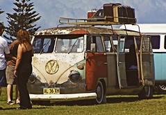 Kombi (Earlette) Tags: old bus travelling cars beach festival vw rust colours australia nsw vans van hdr kombi oldbar