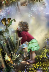Friends & Acquaintances (Gale Franey) Tags: friends graphicart photoshop child dragon magic digitalart fairy fantasy faery computerart computergraphics phantasy galefraney acquaintences abigfave galefra goldstaraward obramaestra