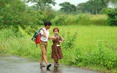 Thank God it's Saturday! (Road Blog) Tags: school india kids children uniform maharashtra protective matheran payitforward