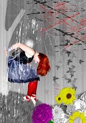 Ballerina (Kung Fu Detective) Tags: red ballet black art photoshop hearts grey dance woods ballerina heart dancing goth dancer leotard brokenheart dancewear houseofsecrets hildeheyvaert hildekitten houseofsecretsincorporated vuurfee katherinaahtaja