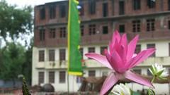 Nyingma monastery and lotus