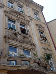 Prague Architecture (kelly-bell) Tags: flowers windows window stone architecture europe czech prague balcony praha czechrepublic bohemia bohemian flowerpots flowersinthewindow