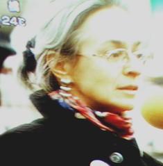 Anna Politkovskaya on TV, Tokyo, Japan