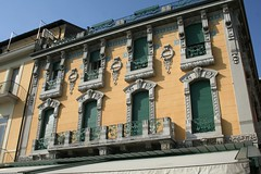 Ornate front of a building, Salo waterfront (julietrowley) Tags: salo