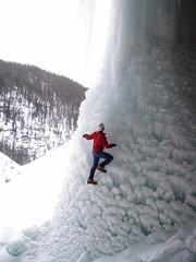 No Tools No Crampons (Dru!) Tags: winter canada frozen alberta parkway column iceclimbing icefields pantherfalls stemalot mushroomed icebouldering cineplexcave