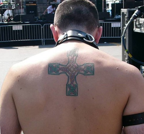 Cross Tattoos On Back For Men. Back Tattoo, originally