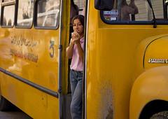 Armenian girl in the school bus, Damascus, Syria (Eric Lafforgue) Tags: woman color colour bus girl horizontal female femme middleeast hasselblad arabia syria h2 ramadan fille aleppo siria 217  levant syrien syrie sirja traveldestinations suriye arabie   imacon syri lafforgue  ericlafforgue sria hasselbladh2 szria lafforguemaccom lafforguemaccomhasselbladimaconhasselblad cfh39cfh39hasselblad cfh39