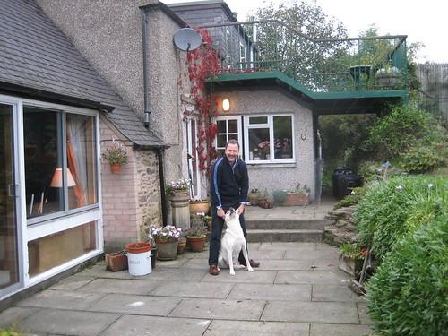 Don Ledingham at home with Dog