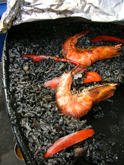 paella negra 1 (chotda) Tags: food black rice market philippines spanish squidink salcedomarket