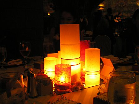 candle weddings The centerpieces were Candles