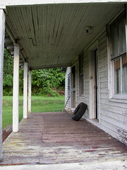 The Tire and the Porch (Jacob...K) Tags: door old abandoned rural america south northcarolina tire southern porch americana appalachian appalachia