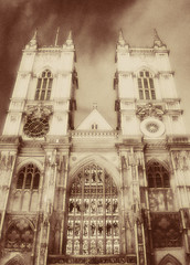 Westminster Abbey (Ch@rTy) Tags: uk england london church abbey westminsterabbey sepia photography place photos britain famous landmarks places landmark 100v10f charlie effect diffuse ldn tyack charlietyackcom
