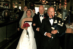 The grand march! (Tesla314) Tags: wedding love groom bride jon dad father pipes natalie piper bagpipes celebrate bagpiper recessional dadw jonnataliewedding