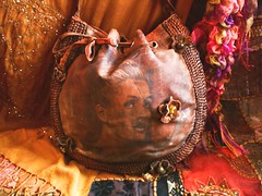 flower girl bag (ambrayasmin) Tags: flowers autumn brown fashion vintage design unique ooak crafts style purse customized eccentric multicultural handbag restyled