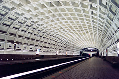 Side Platform Station, Ballston Metro (f0rbe5) Tags: usa topf25 station america wow design dc washington cool unitedstates metro ae1 platform 100v10f ceiling northamerica 1989 breathtaking ballston metrostation washingtonmetro 35faves ballstonmetrostation 25faves breathtakinggoldaward