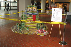 8th Annual New Jersey Canstruction Competition - FROG (Fully Rely on God) (wallyg) Tags: art newjersey jerseycity nj can frog jersey jc exchangeplace hudsoncounty hfc canstruction canart harborsidefinancialcenter harborsidefinancial harborsidefinancialplaza