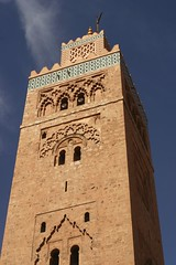 The Koutoubia mosque-tower (dirk huijssoon) Tags: tower architecture mosque morocco marrakech koutoubia