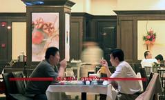 Smoking Section (SnoShuu) Tags: china nightphotography travel people night asian restaurant asia smoke chinese dalian smoking afterdark canon30d snoshuu lensefs1785mmf45f56isusm