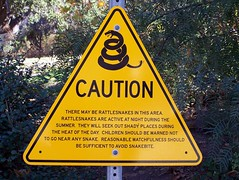 Caution Rattlesnakes (Mark Zuid) Tags: sign warning drive pch caution signpost highway101 pacificcoasthighway rattlesnakes latosf