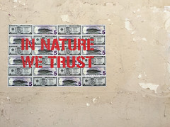 In Nature We Trust (david ross smith) Tags: paris france graffiti art ad poster sign signage 11tharr 11tharrondissement text