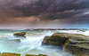 Moody and Cloudy  Morning Seascape (Merrillie) Tags: daybreak wyong landscape soldiersbeach water nature dawn waves surf overcast waterscape weather newsouthwales clouds earlymorning nsw sunrise beach ocean sky norahhead sea coastal morning outdoors seascape coast centralcoast cloudy australia