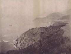 Big Sur, Bixby Bridge View (H Polley) Tags: bigsur californiacoast polaroid polaroidweek expiredfilm packfilm type100 360landcamera seascape roidweek