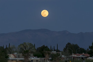 Full Moon over Sierra Vista, Arizona