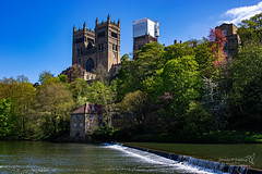 Durham 05 May 2018 00088.jpg (JamesPDeans.co.uk) Tags: mill landscape cathedral season printsforsale durham religion unitedkingdom commerce britain wwwjamespdeanscouk green landscapeforwalls jamespdeansphotography uk digitaldownloadsforlicence spring forthemanwhohaseverything england plants nature greatbritain lightshade riverwear trees colour river tower weir woods architecture europe steeple gb spire church